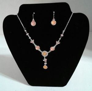 AVON BEAUTIFUL NECKLACE AND EARRINGS SET